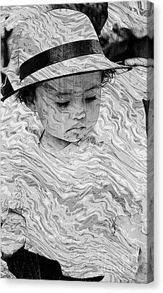 Canvas Print featuring the photograph Cuenca Kids 894 by Al Bourassa