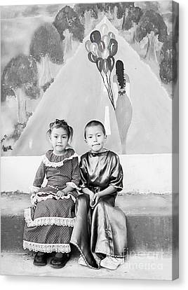 Canvas Print featuring the photograph Cuenca Kids 896 by Al Bourassa