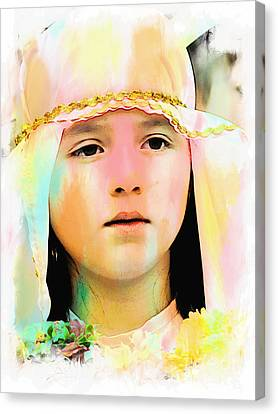 Canvas Print featuring the photograph Cuenca Kids 899 by Al Bourassa