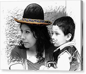 Cuenca Kids 912 Canvas Print by Al Bourassa