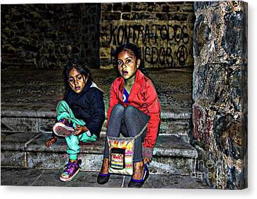 Cuenca Kids 953 Canvas Print by Al Bourassa