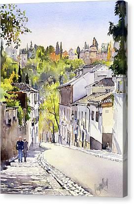 Cuesta Chapiz Granada Canvas Print