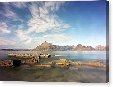 Canvas Print featuring the photograph Cuillin Mountain Range by Grant Glendinning