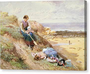 Cullercoats Canvas Print by Myles Birket Foster