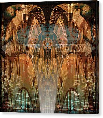Opposing Forces Canvas Print - Cultural Divide by Bill Jonas