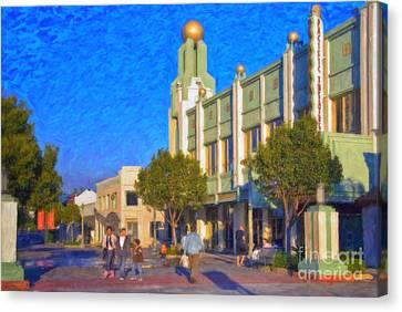 Culver City Plaza Theaters   Canvas Print by David Zanzinger