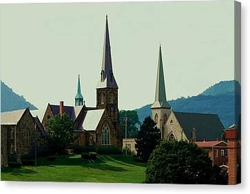 Cumberands Steeples Canvas Print by Eric Liller