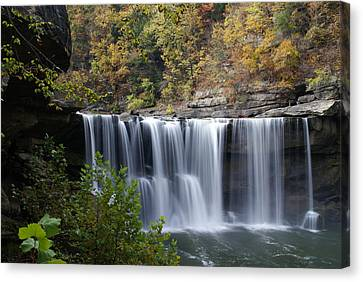 Cumberland Falls In Green Canvas Print