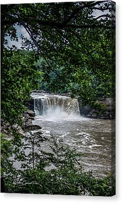 Canvas Print featuring the photograph Cumberland Falls by Joann Copeland-Paul