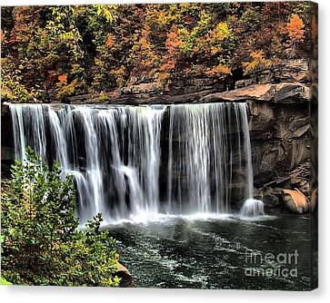 Canvas Print featuring the photograph Cumberland Falls Three by Ken Frischkorn