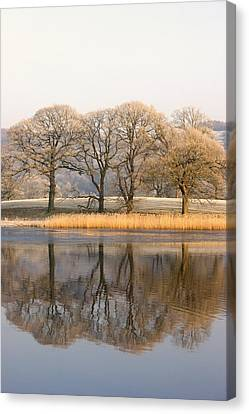 Cumbria, England Lake Scenic With Canvas Print by John Short