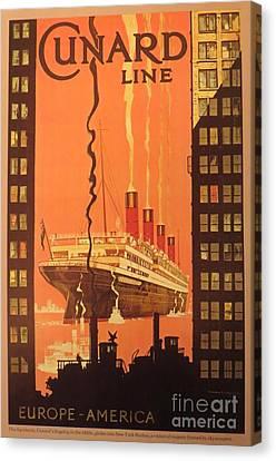 Cunard Ocean Liner Poster Canvas Print