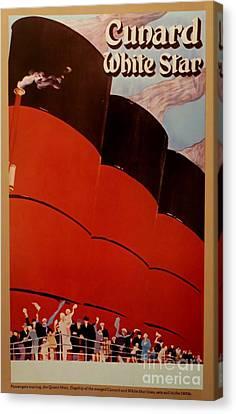 Cunard-white Star Ocean Liner Poster Canvas Print by Tim Townsend