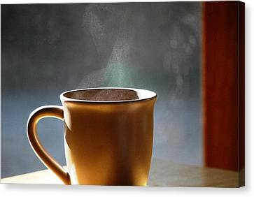 Cup A Joe Canvas Print by Peter  McIntosh