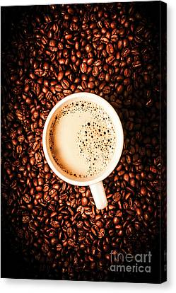Coffee Beans Canvas Print - Cup And The Coffee Store by Jorgo Photography - Wall Art Gallery