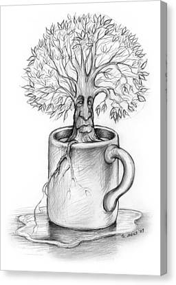 Cup-o-tree Canvas Print by Greg Joens