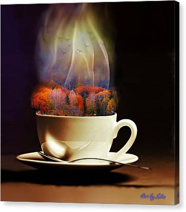 Cup Of Autumn Canvas Print