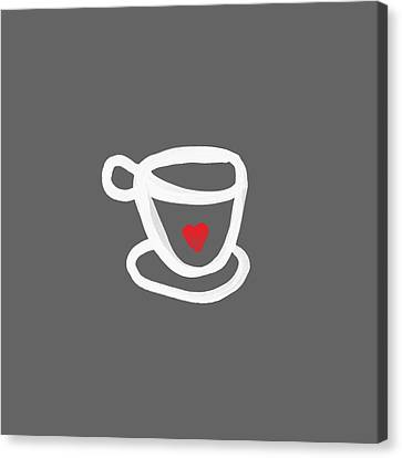 Cup Of Love- Shirt Canvas Print by Linda Woods