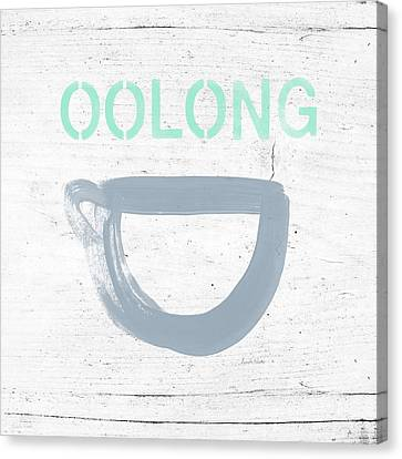 Cup Of Oolong Tea- Art By Linda Woods Canvas Print by Linda Woods