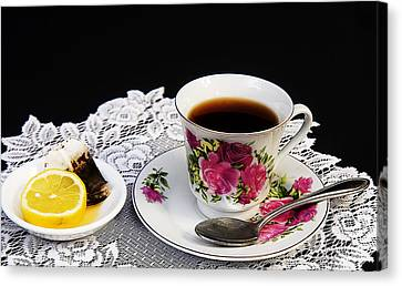 Cup Of Tea Please Canvas Print by Trudy Wilkerson
