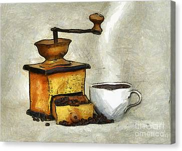 Cup Of The Hot Black Coffee Canvas Print by Michal Boubin