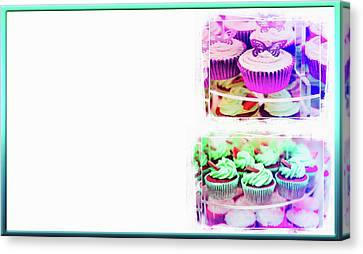 Cupcakes Business Card Canvas Print by Tom Gowanlock