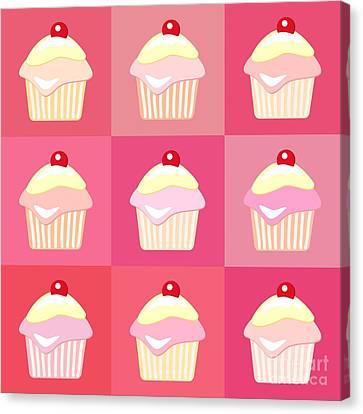 Cupcakes Pop Art  Canvas Print