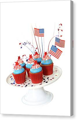 American Independance Canvas Print - Cupcakes by Rose-Marie Murray