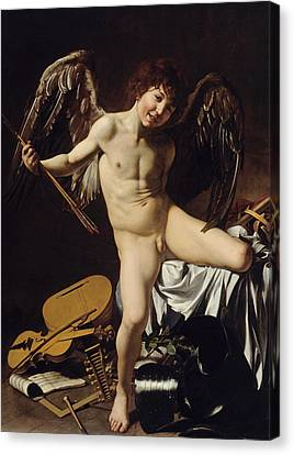 Cupid As Victor  Canvas Print by Caravaggio