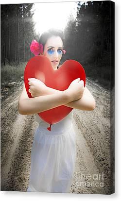 Cupid Hugging Love Heart Balloon Canvas Print by Jorgo Photography - Wall Art Gallery