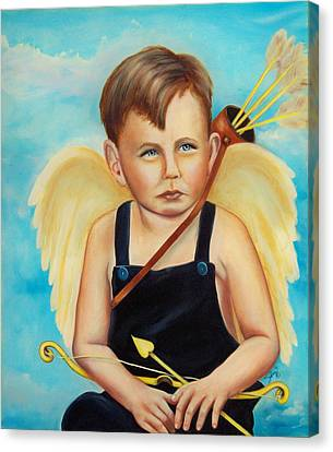 Canvas Print featuring the painting Cupid by Joni McPherson