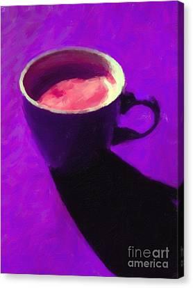 Cuppa Joe - Purple Canvas Print by Wingsdomain Art and Photography
