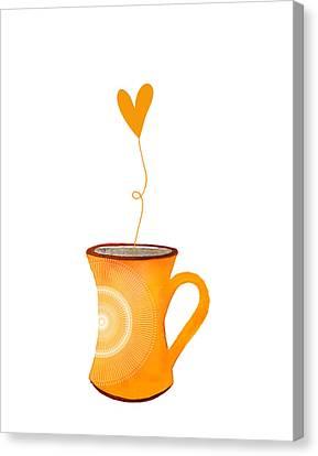 Cuppa Series - Cuppa Sunshine Canvas Print by Moon Stumpp