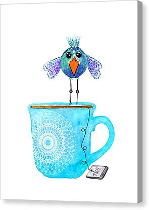 Cuppa Series - Tea Taster Canvas Print by Moon Stumpp
