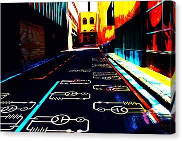 Curcuit City Canvas Print