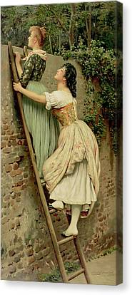 Observer Canvas Print - Curiosity by Eugen Von Blaas