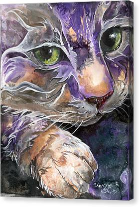 Canvas Print featuring the painting Curiosity by Sherry Shipley