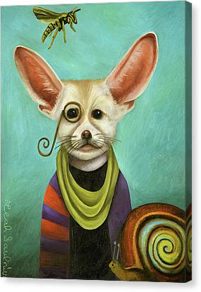 Canvas Print featuring the painting Curious As A Fox by Leah Saulnier The Painting Maniac