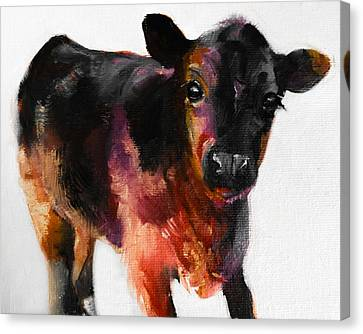 Buster The Calf Painting Canvas Print by Michele Carter