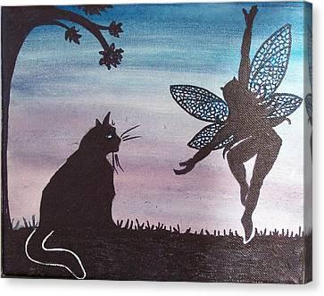 Curious Cat Canvas Print by Amy Lauren Gettys
