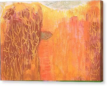 Curious Cove Canvas Print by Anne-Elizabeth Whiteway