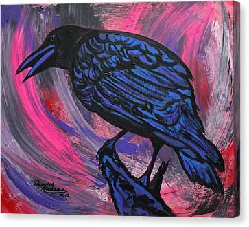 Curious Crow  Canvas Print