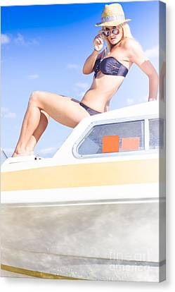 Pleasure Canvas Print - Curious Holiday Woman by Jorgo Photography - Wall Art Gallery