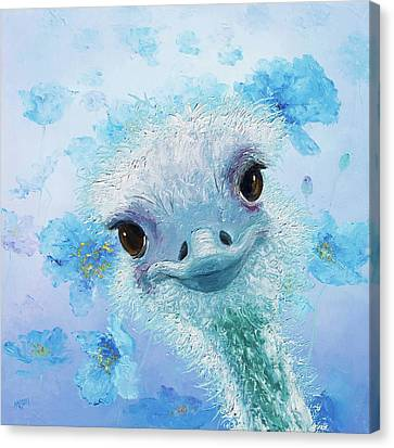 Curious Ostrich Canvas Print by Jan Matson