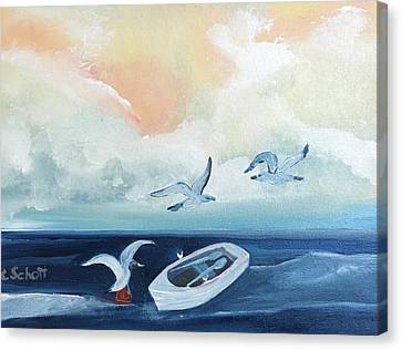 Curious Seagulls Canvas Print