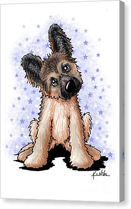 Curious Shepherd Puppy Canvas Print by Kim Niles