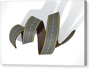 Turn Canvas Print - Curled Road by Allan Swart