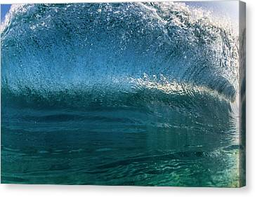 Surrealistic Canvas Print - Curling Overhead by Sean Davey