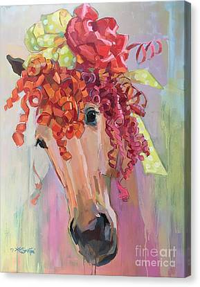 Forelock Canvas Print - Curls by Kimberly Santini