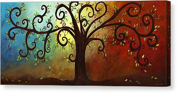 Curly Branches Tree Canvas Print by Elaine Hodges
